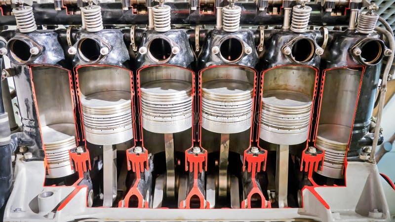 Sechs Zylinder stockfoto