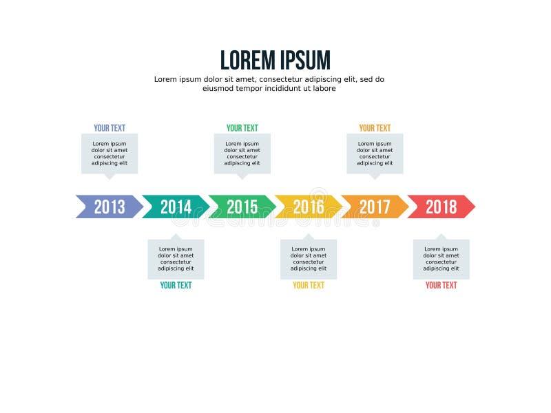 Sechseckige Schablone und PowerPoint Infographic-Elements farbenreich lizenzfreie abbildung
