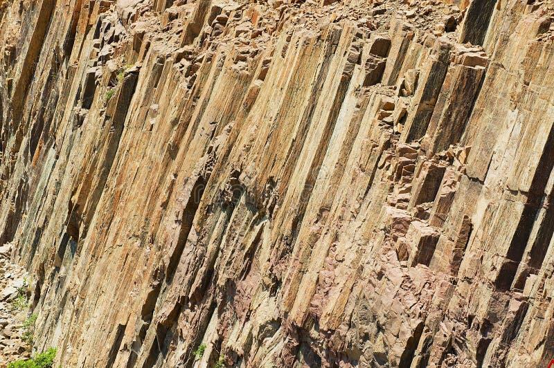 Sechseckige Spalten des vulkanischen Ursprung bei Hong Kong Global Geopark in Hong Kong, China stockfoto
