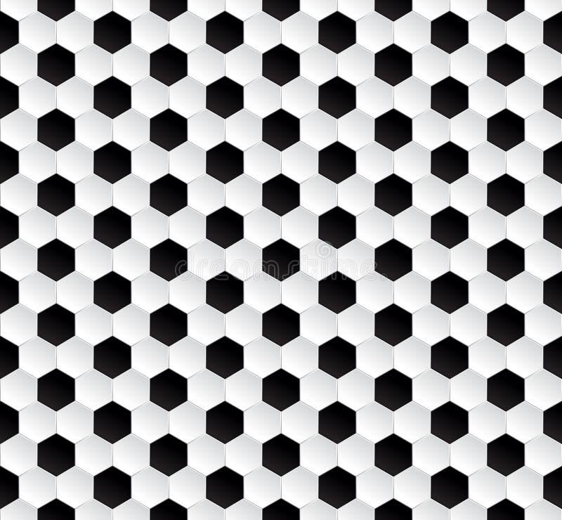 Sechseckiger abstrakter Fußballbeschaffenheitshintergrund vektor abbildung