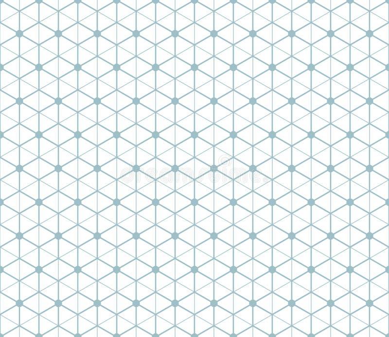 Sechseckiger abstrakter Verbindungsvektor nahtloses patt vektor abbildung