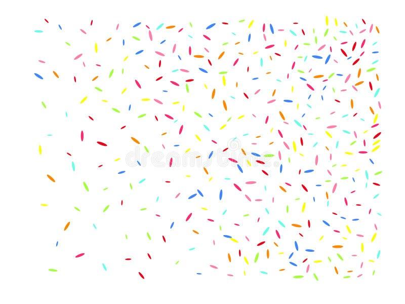 Sechseckiger Formkonfettimehrfarbenhintergrund lizenzfreie abbildung