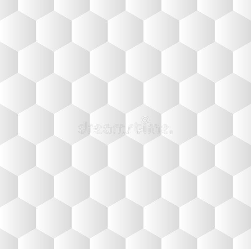 Sechseckiger Musterhintergrund des nahtlosen Vektors Jedes Hexagon gefüllt durch helle Steigung stock abbildung
