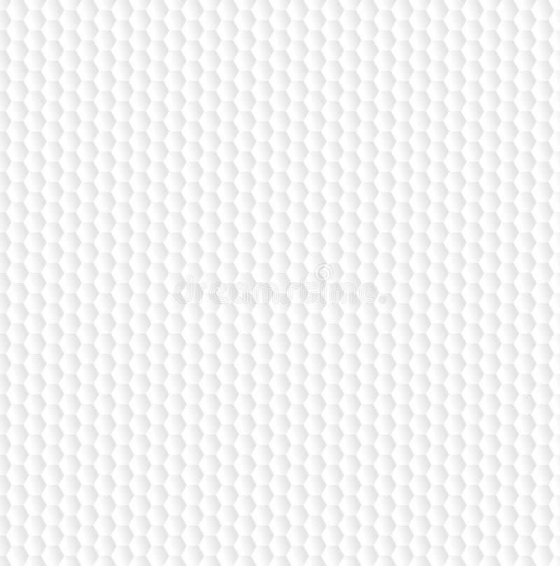 Sechseckiges abstraktes weißes Muster Auch im corel abgehobenen Betrag vektor abbildung