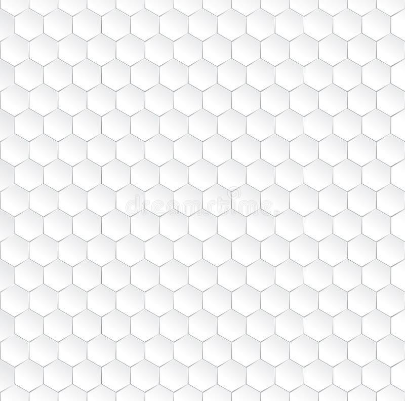 Sechseckiges weißes nahtloses Muster vektor abbildung