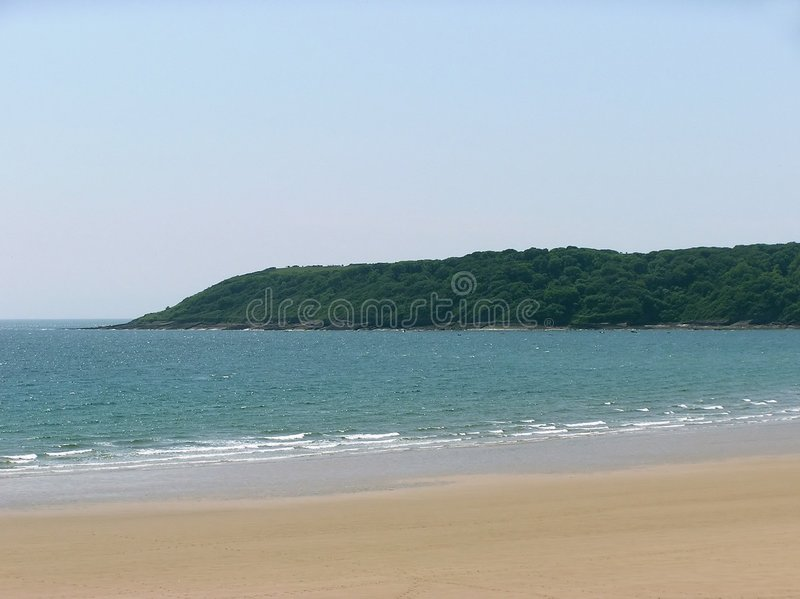 Secluded пляж стоковая фотография
