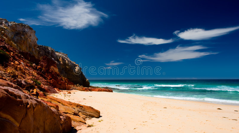 Secluded Beach. A Secluded Australian Beach in Summer royalty free stock photos