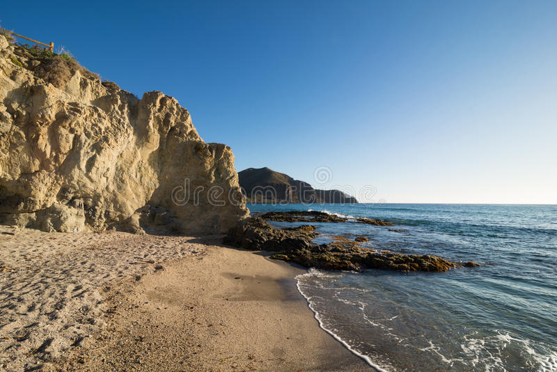 Secluded beach royalty free stock image