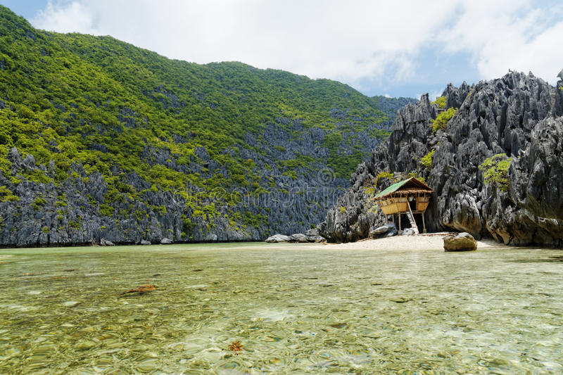 Secluded Beach (El Nido, Philippines) stock photography