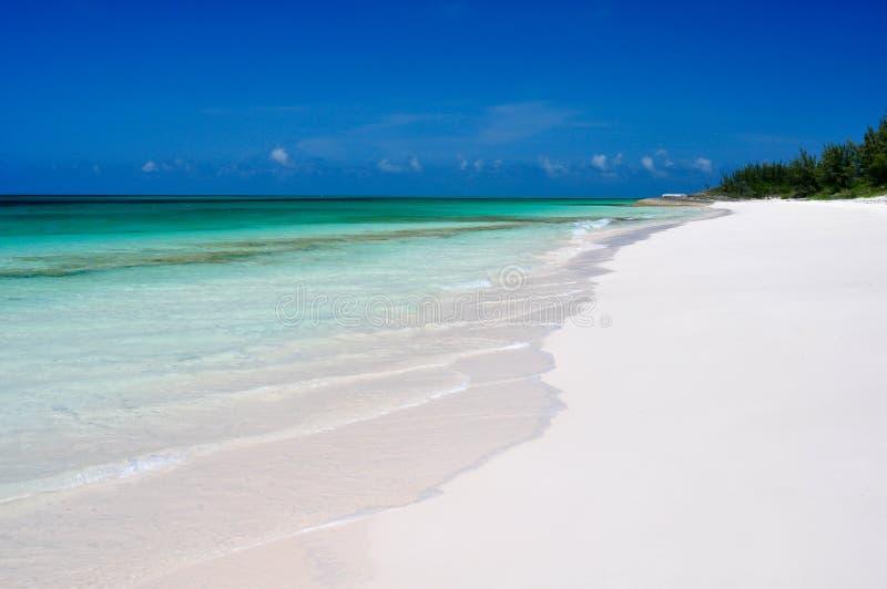 Secluded Beach. On North Eleuthera, Bahamas stock photos