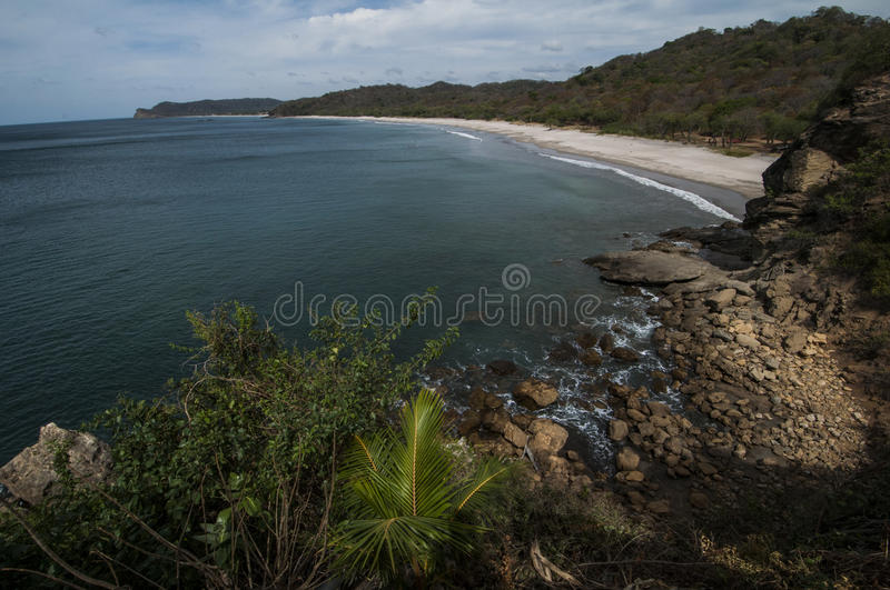 Secluded beach. Playa Gigante, Nicaragua stock images