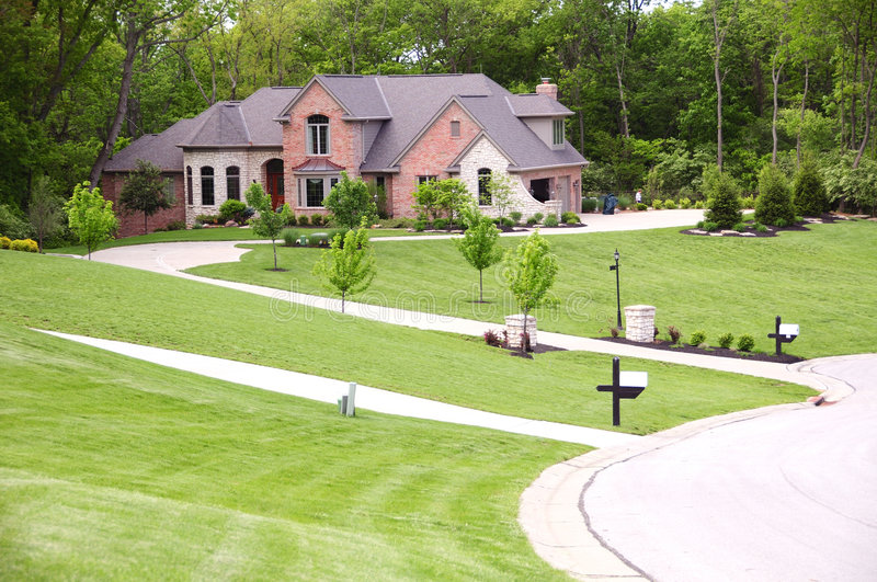 Download Secluded Stone And Brick Home Stock Photo - Image: 5583506