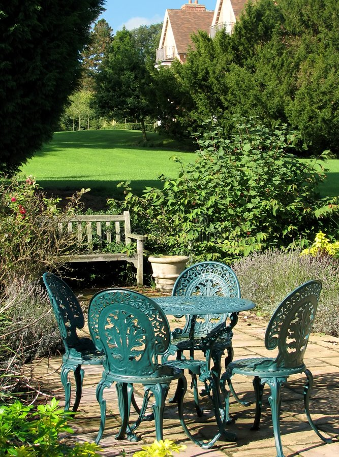 Secluded Terrace stock image