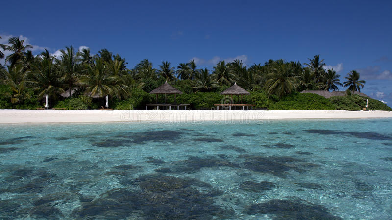 Secluded Tropical beach, Kandoludu, Maldives stock photography