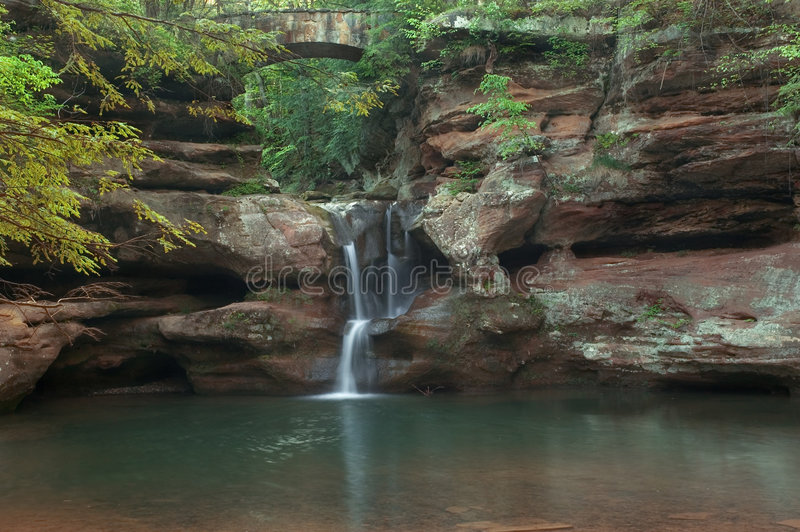 Download Secluded waterfall stock image. Image of refreshing, peaceful - 797229