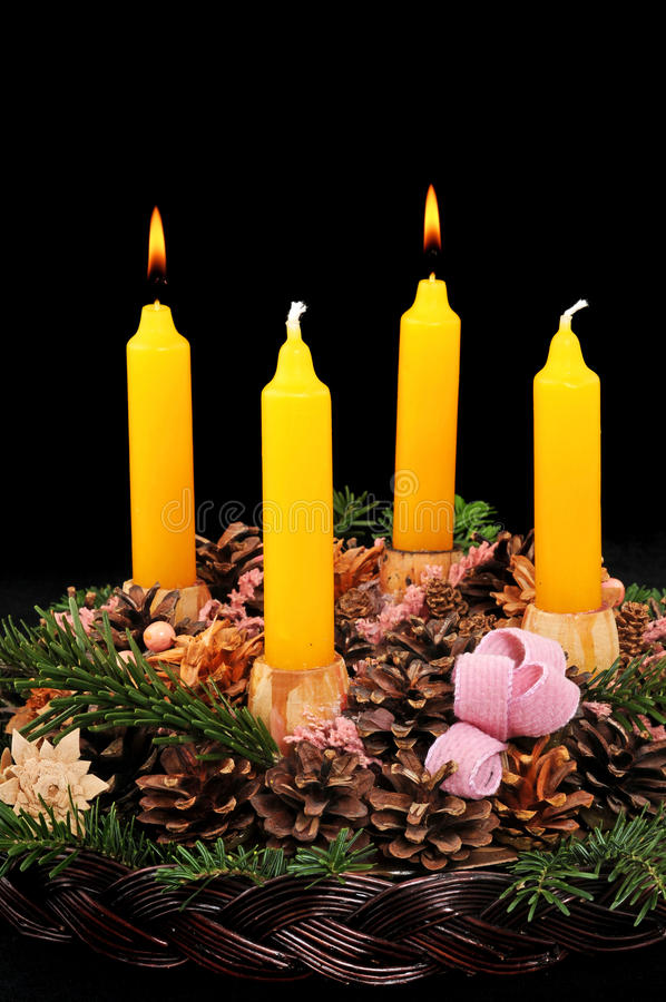 Download Second advent stock photo. Image of traditional, four - 15021330