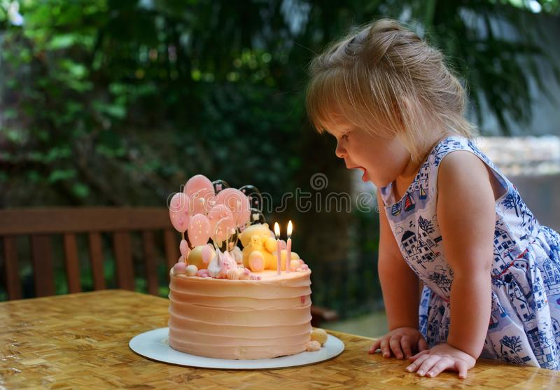 Second birthday royalty free stock image