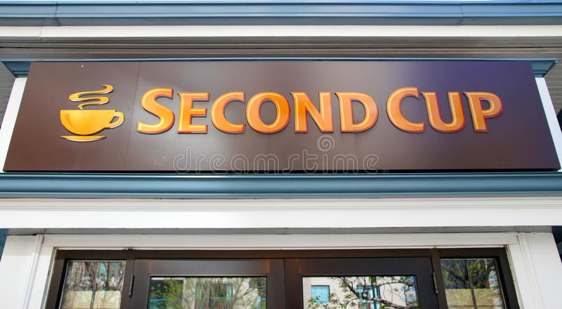 Second Cup Sign stock photo