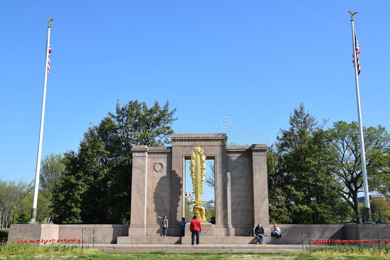 The Second Division Memorial in Washington, DC. (USA royalty free stock photo