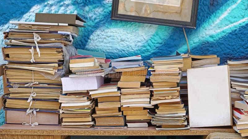 Second hand books royalty free stock image