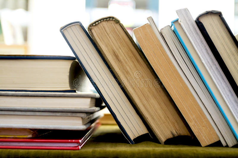Second hand books. Old second hand books for sale in a street book market stock photos