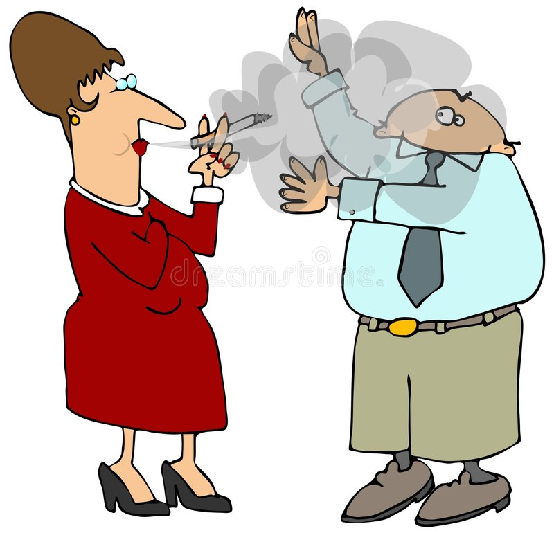 Download Second Hand Smoke stock illustration. Image of cloud, woman - 4851116