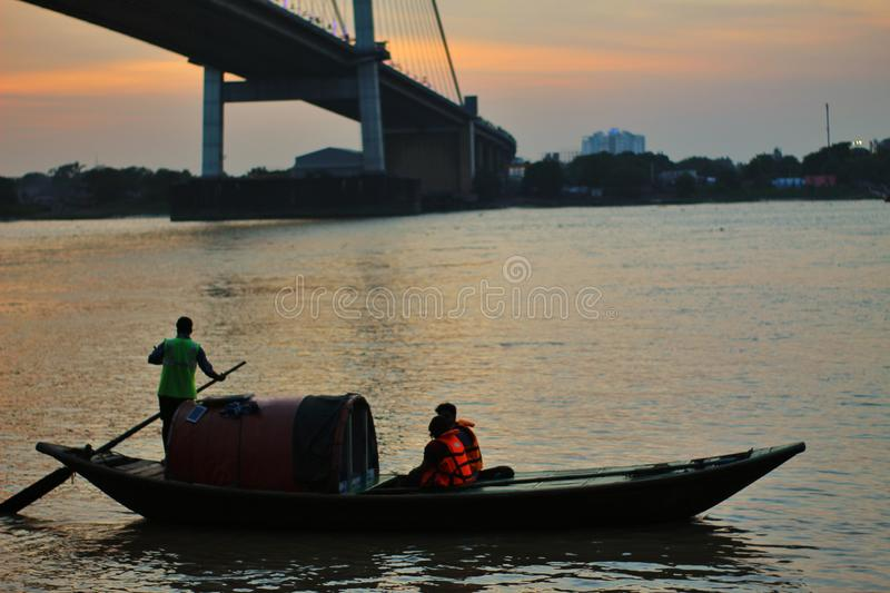 Second Hooghly satu kolkata. Iso -100,f-5.6,canon 1300d stock image