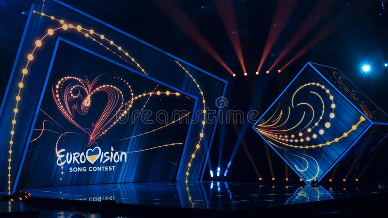 Second semifinal of Ukraine`s selection for Eurovision 2019. Kyiv, Ukraine, 16 February 2019: Second semifinal of Ukraine`s selection for Eurovision 2019 royalty free stock images
