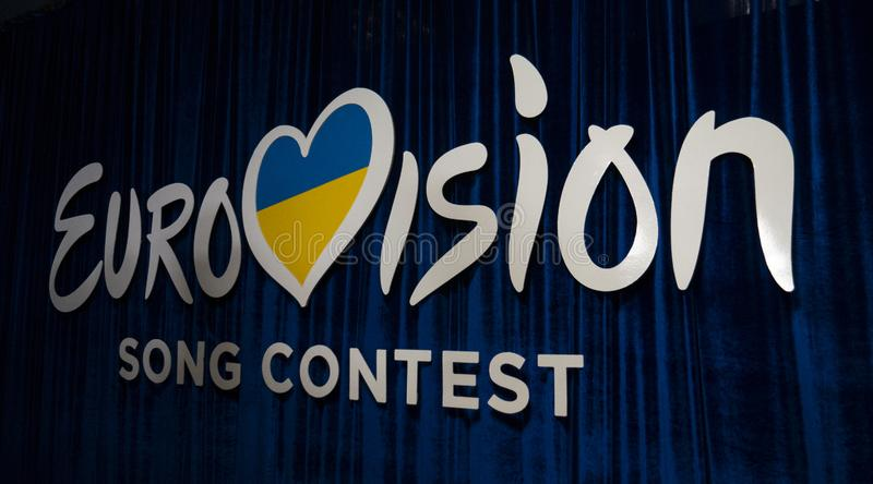 Second semifinal of Ukraine`s selection for Eurovision 2019. Kyiv, Ukraine, 16 February 2019: Second semifinal of Ukraine`s selection for Eurovision 2019 stock photo