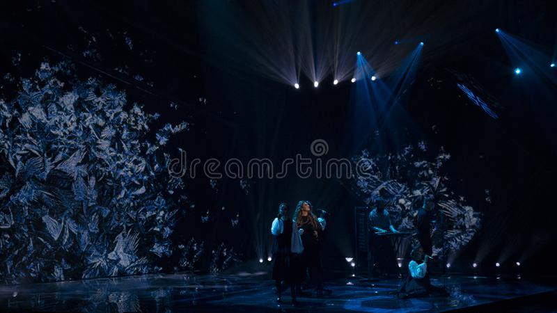Second semifinal of Ukraine`s selection for Eurovision 2019 royalty free stock photo