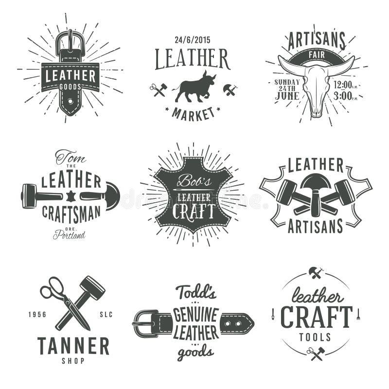 Second set of grey vector vintage craftsman logo vector illustration