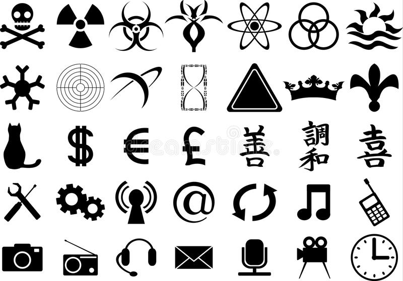Download Second Set Of Silhouettes Royalty Free Stock Image - Image: 13201336