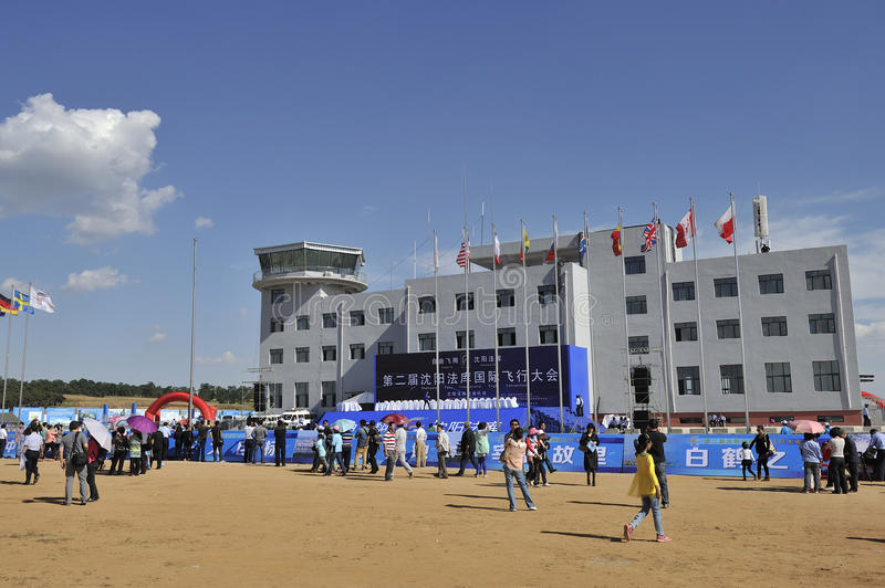 The second Shenyang Faku International Congress of flight. In September 20th, the second Shenyang Faku flight international conference held a grand opening stock photo
