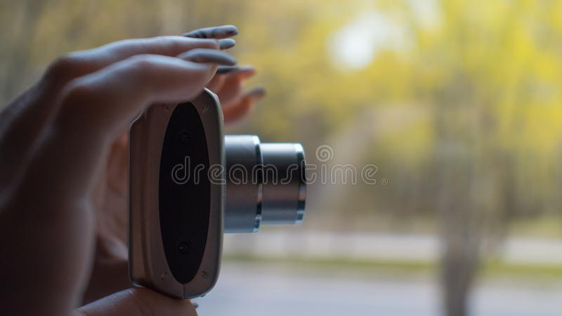 A second before taking a photo royalty free stock photos
