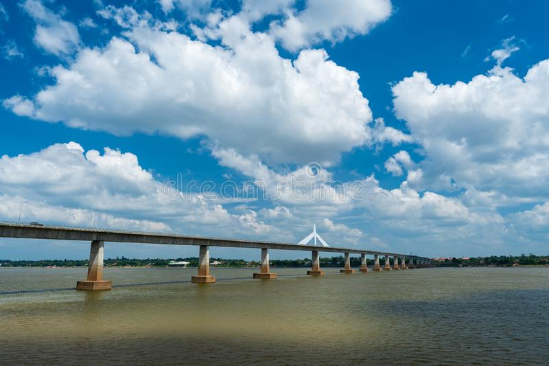 Second Thai–Lao Friendship Bridge in Mukdahan, Thailand. The Second Thai–Lao Friendship Bridge in Mukdahan, Thailand stock photo