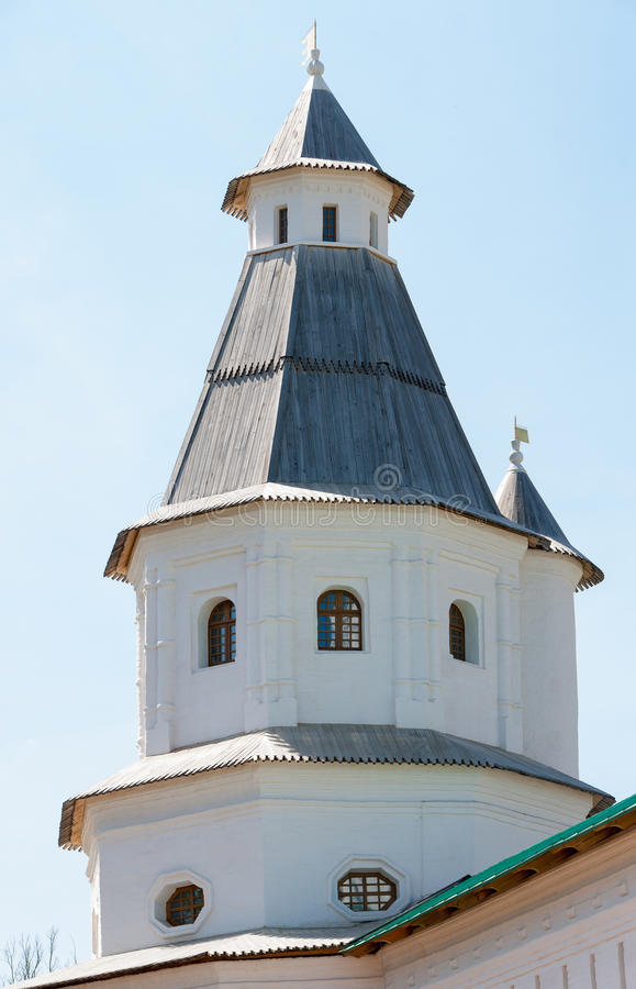 The second watchtower of the Resurrection New Jerusalem Monastery stock images