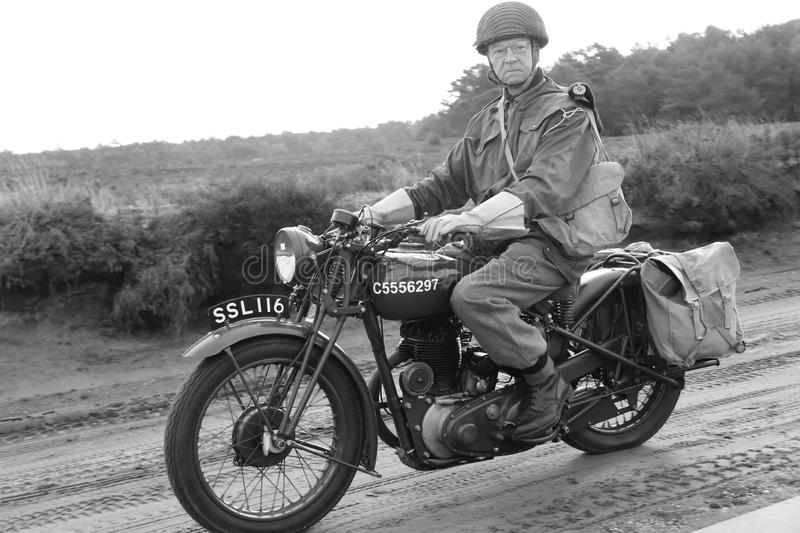 Second world war motorcycle bike stock photos