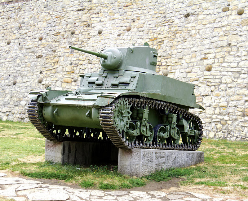 Second World War Tank. General Stuart Model M3a1 royalty free stock photo