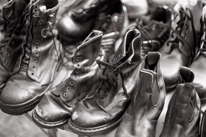 Secondhand Shoes Stock Images