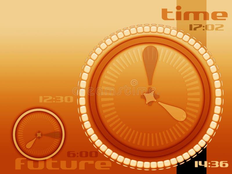 Secondi ed ore illustrazione di stock