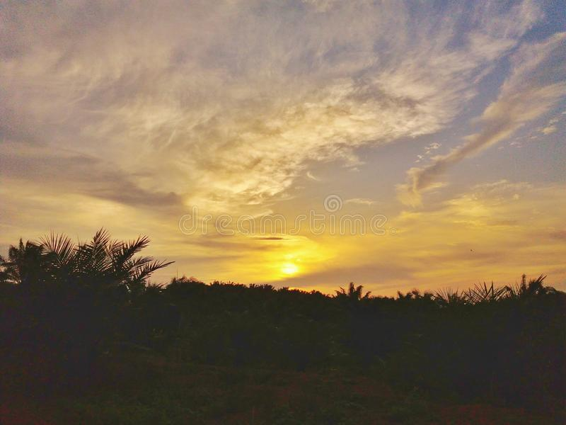 Secondi prima del tramonto fotografie stock libere da diritti