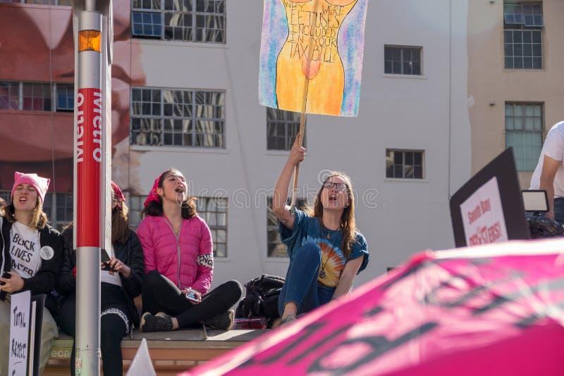 secondo ` annuale s marzo - feti delle donne fotografia stock libera da diritti