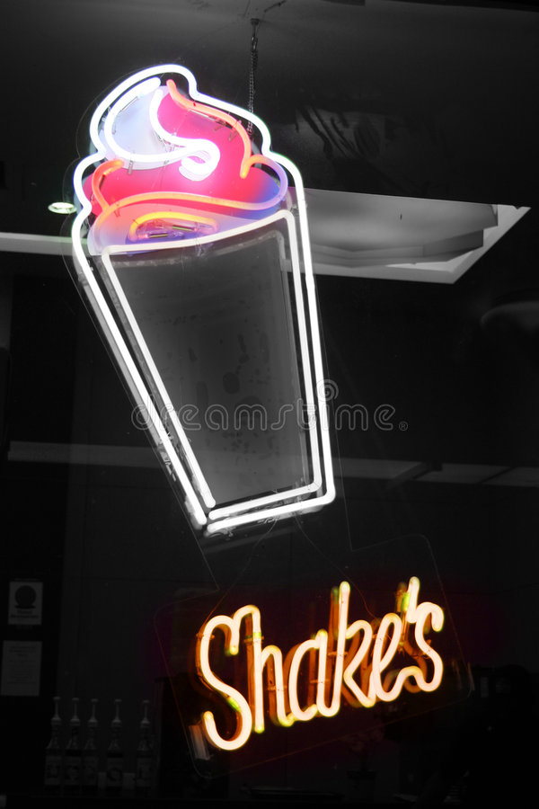 Secoue le signe au néon photos stock