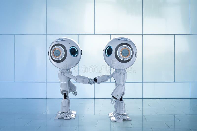 Secousse de main de robot illustration libre de droits