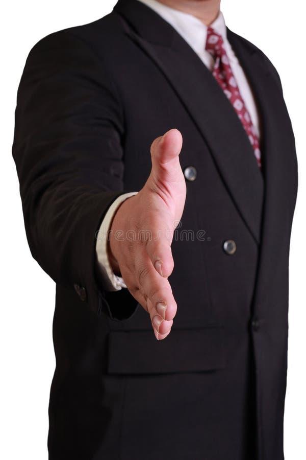 Secousse de offre de main d'homme d'affaires photo stock