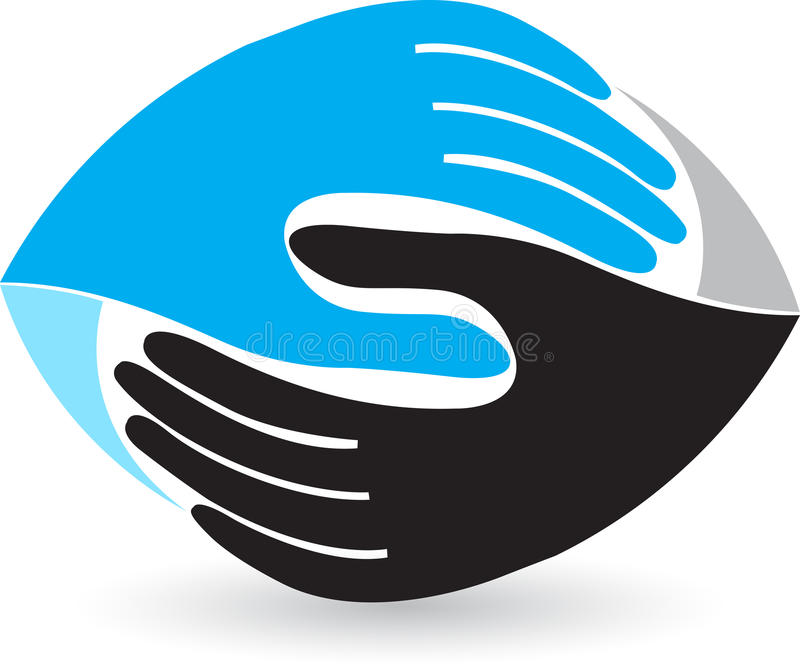 Secousse du logo de main illustration stock