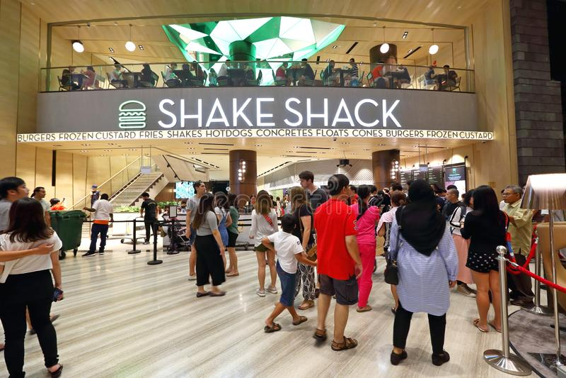 Secousse Shack au bijou Changi de Singapour images libres de droits