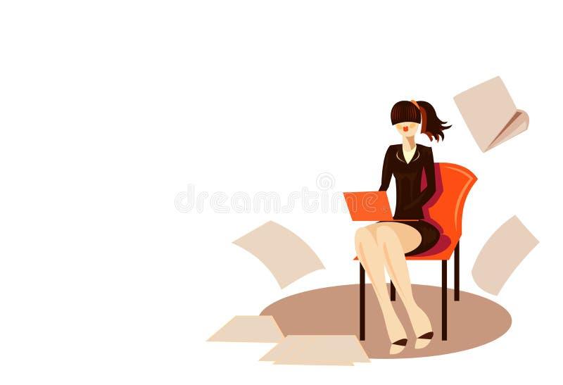 Secrétaire de femme illustration de vecteur