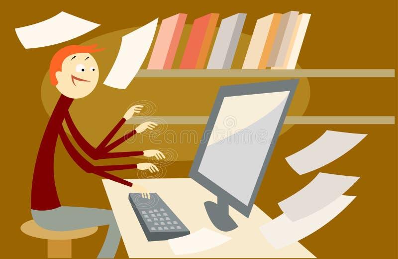 Secretária ilustração stock