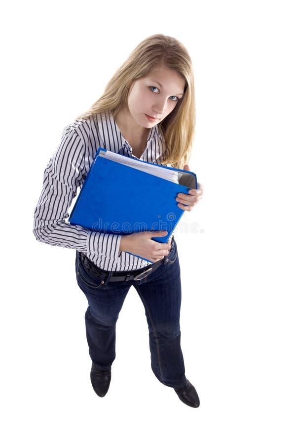 Secretária com arquivo fotografia de stock